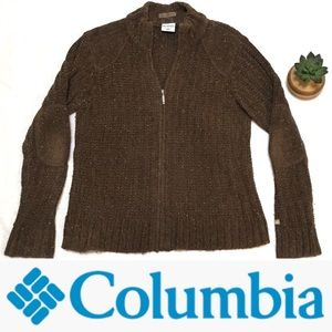 Columbia Zip-Up Sweater w/ Elbow Pads